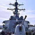 米海軍横須賀基地一般開放 ミサイル駆逐艦カーティスウィルバー 艦橋 20180407