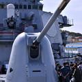 米海軍横須賀基地一般開放 ミサイル駆逐艦カーティスウィルバー 機関砲 20180407