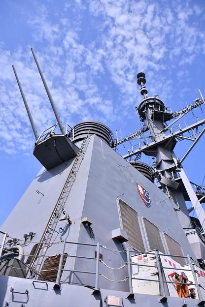 米海軍横須賀基地一般開放 ミサイル駆逐艦カーティスウィルバー艦船 20180407