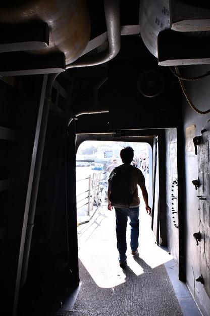 カーティスウィルバー艦船見学 船内をまわる 20180407