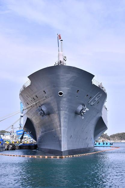 日米親善春まつり 横須賀基地で見れた揚陸指揮艦ブルーリッジ(1)  20180407