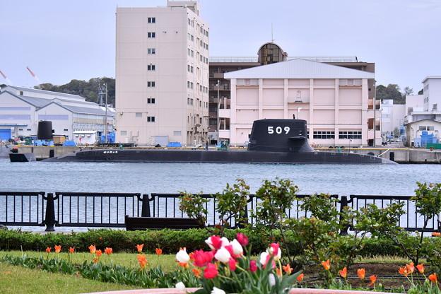 受領されたばかり新鋭潜水艦せいりゅう SS509  20180407