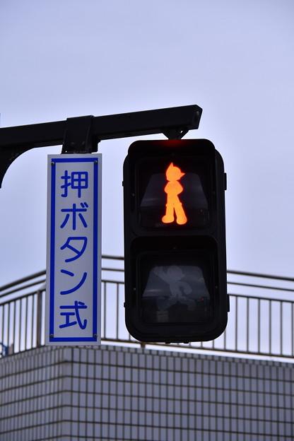 辻堂海浜公園の信号機は赤もアトム。。20180407