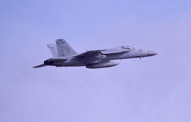 日米共同訓練セカンド 百里基地から米海軍スーパーホーネットチッピー 上がり(3) 20180411
