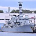 写真: 米海軍横須賀基地にイギリス海運フリゲート艦HMS F81サザーランド(2) 20180415