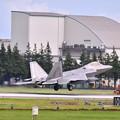 撮って出し。。嘉手納から横田基地へ猛禽類 F-22ラプタータッチダウン 7月8日