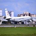 Photos: 撮って出し。。台風避難で嘉手納から横田へRC-135 コブラボール? 7月8日