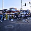 写真: 撮って出し。。佐原の大祭メインイベントのの字回し会場に 7月14日