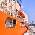 写真: 撮って出し。。海上自衛隊での艦船見学砕氷艦しらせ 8月4日