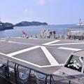 写真: 撮って出し。。砕氷艦しらせ隣は護衛艦たかなみ 8月4日