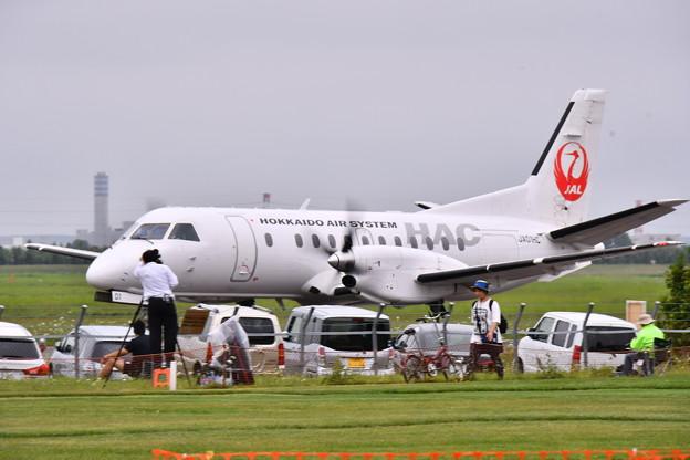 撮って出し。。丘珠空港から三沢行き北海道システス 8月11日