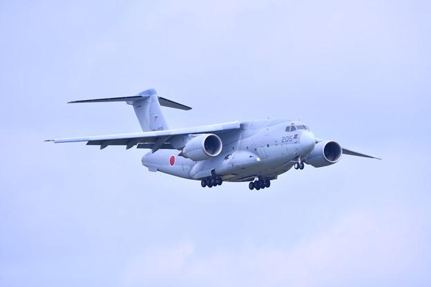 撮って出し。。夏の札幌航空ページェント C-2ローパス飛行 丘珠駐屯地 8月12日