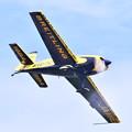 写真: 撮って出し。。夏の札幌航空ページェント エアレーサー室屋さん曲芸飛行 丘珠駐屯地 8月12日