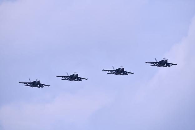 撮って出し。。夏の札幌航空ページェント 三沢からEA-18Gグラウラーローパス飛行 丘珠駐屯地 8月12日