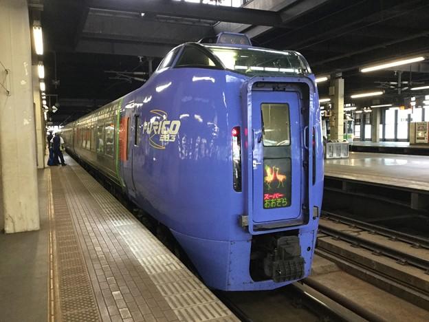 撮って出し。。せっかく札幌JR北海道特急スーパーおおぞら 283系ディーゼル 8月12日