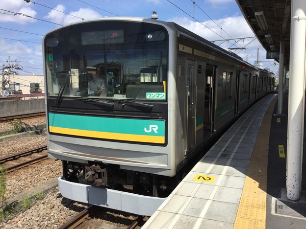撮って出し。。JR東日本 南武支線 205系1000番台 8月14日