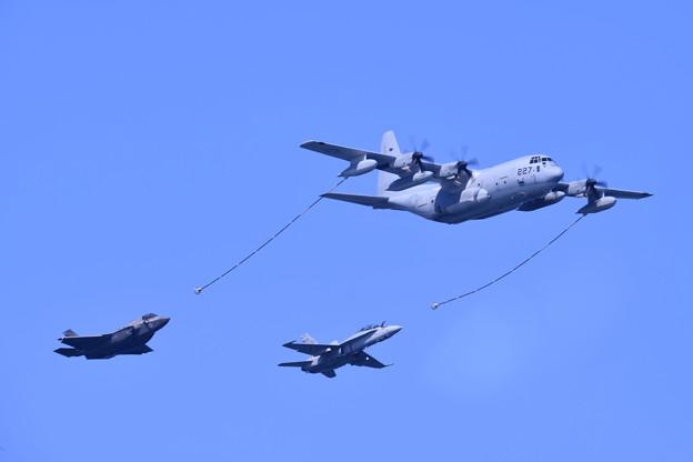 岩国基地。。総合デモ飛行 空中給油デモ 米海兵隊(1) 20180503