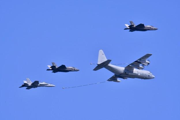 岩国基地。。総合デモ飛行 空中給油デモ 米海兵隊(2) 20180503