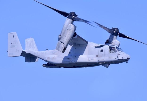 岩国基地。。総合デモ飛行オスプレイレベル3機動飛行 米海兵隊 20180503