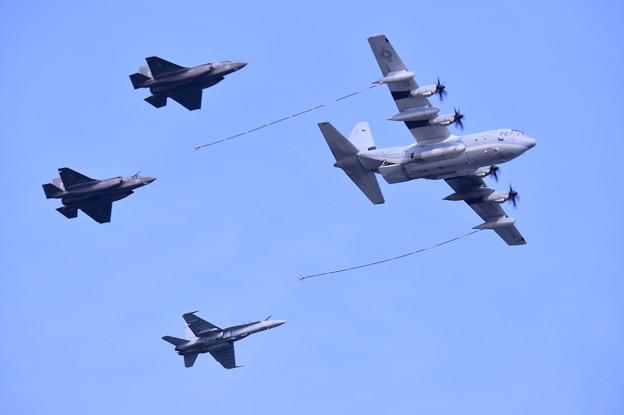 岩国の米海兵隊航空機による総合デモ飛行 空中給油デモ 20180505