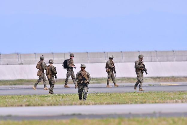 岩国基地 地上上陸作戦デモ制圧。。