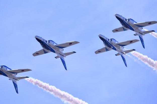 静浜基地航空祭 ブルーインパルスフォーシップインバート 20180520