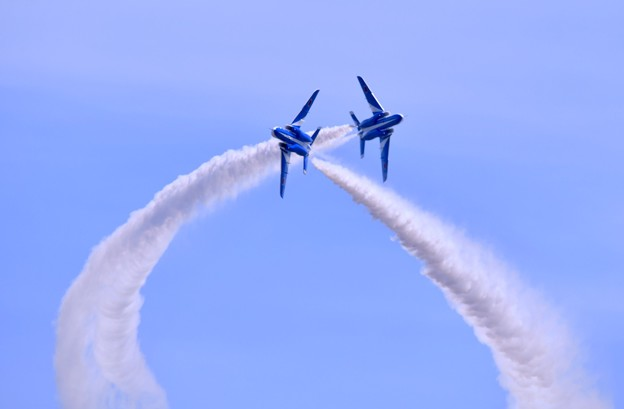 静浜基地航空祭。。ブルーインパルス タッククロス 20180520