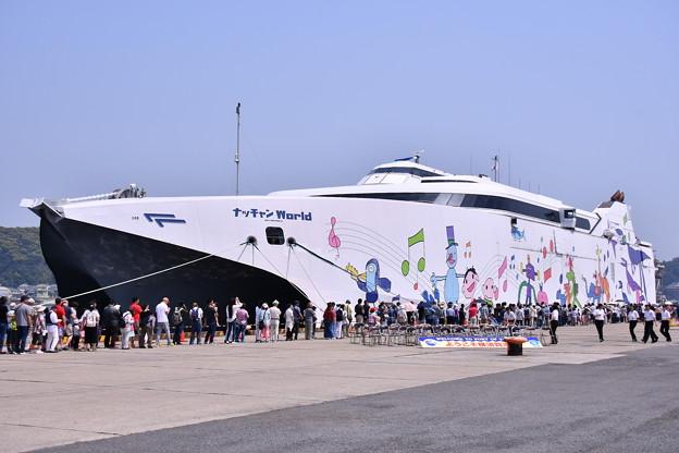 久里浜港に寄港したナッチャンWorld(2)一般公開 20180527