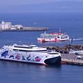 写真: 久里浜港に寄港したナッチャンWorld(3)東京湾フェリー 20180527