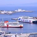 久里浜港に寄港したナッチャンWorld(4)東京湾フェリー 20180527