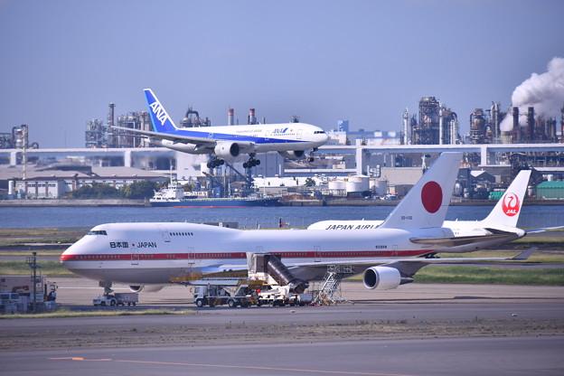 もう時期退役か。。政府専用機シグナスとアプローチ旅客機(2) 20180602