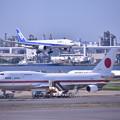 Photos: もう時期退役か。。政府専用機シグナスとアプローチ旅客機(2) 20180602