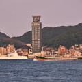 下関市側から見る関門海峡 門司港停泊中 護衛艦ひゅうが 20180602