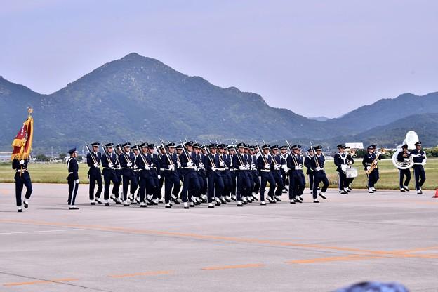 防府基地航空祭 航空学生行進。。