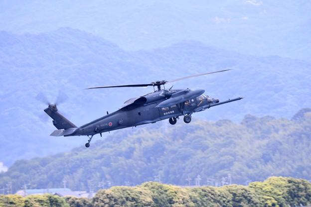 防府基地航空祭。。UH-60Jデモ飛行