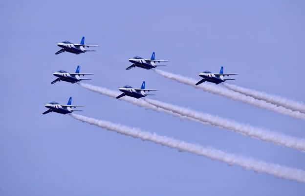 防府基地航空祭 ブルーインパルス デルタローパス