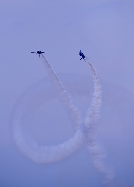防府基地航空祭 ブルーインパルス コークスクリュー