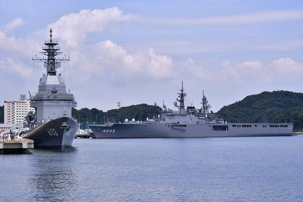 ヴェルニー公園から試験艦あすかと輸送艦しもきた 20180609