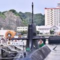 写真: 横須賀基地逸見岸壁 潜水艦こくりゅう 20180609