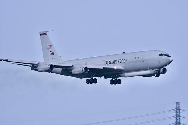 嘉手納基地へ帰投して来たジョージアのE-8ジョイントスターズ20180618