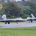 Photos: 嘉手納基地。。午後のF22ラプター最終チェック 20180617