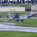 Photos: 嘉手納基地。。午後のローカル F22ラプター上がって(3)  20180618