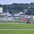 Photos: 嘉手納基地。。午後のローカル F22ラプター上がって(5)  20180618