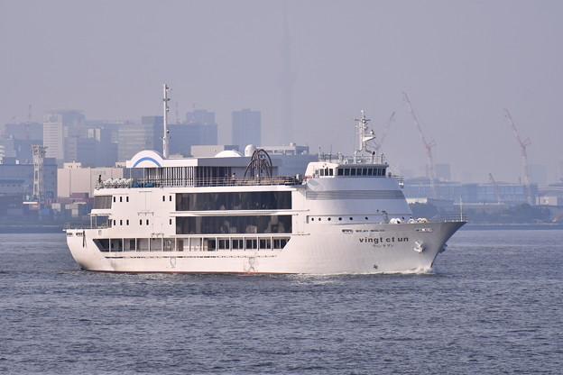 夕方の城南島。。東京湾を行き交う船 20180624