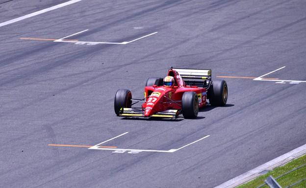 富士スピードウェイメインスタンド走行フェラーリF1(2) 20180630