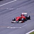 写真: 富士スピードウェイメインスタンド走行フェラーリF1(3) 20180630