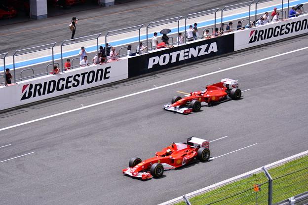 富士スピードウェイコントロールライン通過フェラーリF1(2) 20180630
