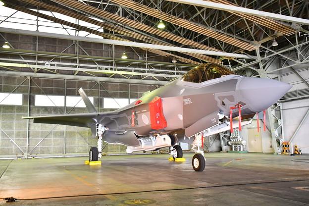 北海道地震で飛行中止になったF35A 地上展示(1) 20180909