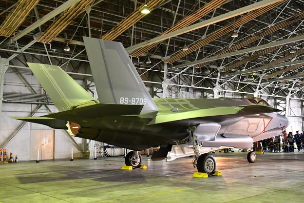 北海道地震で飛行中止になったF35A 地上展示(3) 20180909