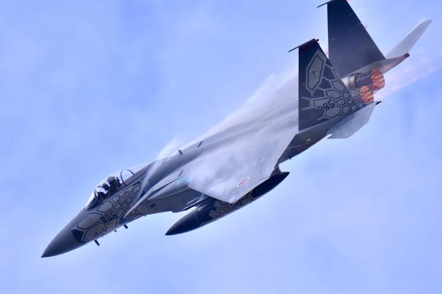 小松基地航空祭。。第303飛行隊ドラゴンのスペマ機機動飛行